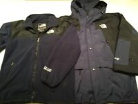 North Face Summit Series Gore-Tex XCR Men XL Hooded 3 In 1 Jacket Navy  EUC