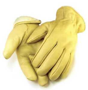 Northstar Mens Full Grain Tan Deerskin Gloves Lined 100 gram 3M Thinsulate 013T