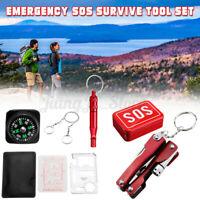 SOS Survival Emergency Gear Self Help Outdoor Camping Hiking Tools Box Kit
