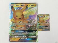 Pokemon Pikachu GX SM232 Promo + Jumbo Card (Both Cards)