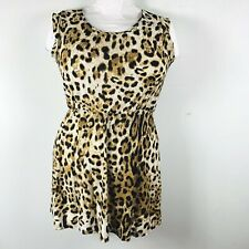 Fashionwear Womens Dress Sz XXXL  Brown Animal Print Short Sleeve Sexy Club EJ33