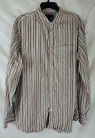 Banana Republic Men's XL 17-17 1/2 Long Sleeve Button Up Striped Shirt