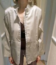 Designer silvery grey metalic Ladies Jacket Size 12 By Gelco zip and two side po