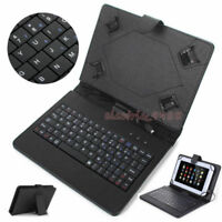 For Lenovo Tab 2 3 4 7/8/10.1 Tablet Micro USB Keyboard Stand Leather Case Cover