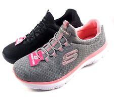 Skechers 12980 Black Memory Foam Soft Mesh Slip On Sneakers
