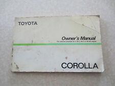 Original 1986 Toyota Corolla Australian Owner's Manual 4AGE & 2AC & 4AC engines