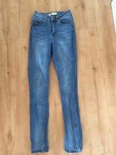 Ladies Blue Denim COTTON ON Skinny Jeans Size 8 High Rise