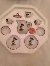 Mini Mickey MouseTea set Reutter Porzellan Service Kids Tea Coffee 9 piece Set
