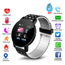Smart Watch Bluetooth Heart Rate Blood Pressure Monitor Fitness Tracker Android