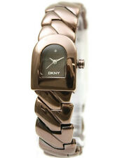 New DKNY Stainless Steel Brown Women Dress Watch 20x25mm NY4227 $135