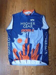 Voler Dorle Group Higher Gear Chicago Bike Shop Cycling Jersey 3/4 ZIp Navy 2XL