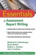 Essentials of Psychological Assessment: Essentials of Assessment Report Writing