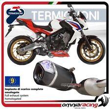 Termignoni RELEVANCE escape completo carbono aprobado Honda CB650F 14>16