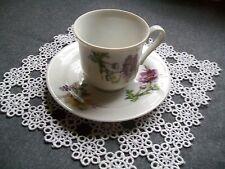 Mokka-Tasse mit Untertasse, Sammeltasse, Blumen, Espresso, unbenutzt, neuwertig