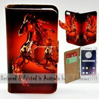 For OPPO Series - Water Horse Theme Print Wallet Mobile Phone Case Cover