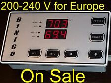 220V Temperature Control Thermostat Water Heater Solar System Panel with 2 Probe