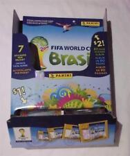 PANINI WORLD CUP BRAZIL 2014 RARE USA DISPLAY BOX +ALBUM +50 PACKS OF 7 STICKERS