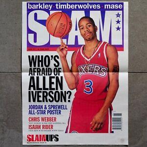 Allen Iverson SLAMUPS Poster   SLAM Issue 18 Cover   AI PHILA SIXERS NBA I3
