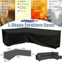 3Mx3M L Shape Corner Outdoor Sofa Rattan Patio Garden Furniture Cover Waterproof