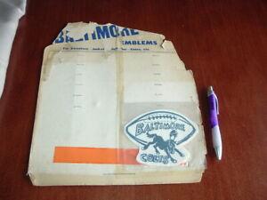 1958 Souvenir Patch Emblems Display Football Baltimore Colts Championship