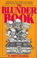 Blunder Book : Gigantic by M. Hirsh Goldberg (1988, Paperback)