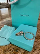 NIB Tiffany & Co Sterling Silver Sneakers Running Shoes Charm Keychain Pendant