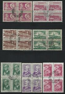 BRAZIL - 1958 USED BLOCKS OF 4