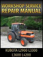 Kubota L2900 L3300 L3600 L4200 Tractor Service Repair Manual on CD