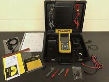 FLUKE 123 SCOPEMETER & FLUKEVIEW SOFTWARE (Oscilloscope , Multimeter & Recorder)