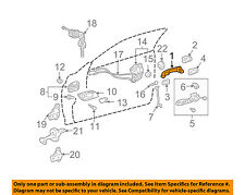 TOYOTA OEM 02-06 Camry-Outside Exterior Door Handle 69211AA020E0