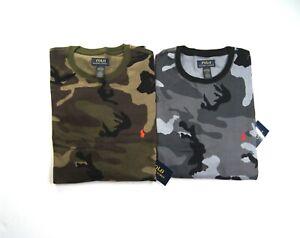 POLO RALPH LAUREN Men's Camo Waffle-Knit Thermal Pajama Sleep Shirt NEW NWT