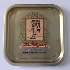 More details for vintage advertising tin tray the antiquary deluxe old scotch whisky scotland bar