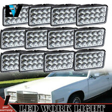 "4X6"" LED HID Light Bulbs Crystal Clear Sealed Beam Headlamp Headlight 12PCS"