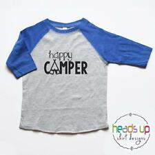 Happy Camper Shirt Toddler Boy or Girl Camping Gift Sarcastic Funny Kids tshirt