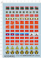 Detail Up 1/72 Truck Myanmar U.W.S.A Flag Logo Military Model Water Slide Decal