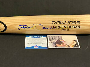 Jarren Duran Red Sox Autographed Signed Engraved Blonde Bat BECKETT ROOKIE COA .