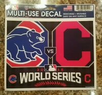 Chicago Cubs Cleveland Indians 2016 World Series WinCraft Dueling Teams Decal