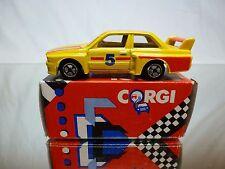 CORGI TOYS BMW M3 RACING CAR - E30 - SILVERSTONE No 5 YELLOW 1:55? - GOOD IN BOX