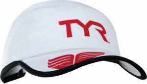 TYR Competitor Running Cap: White/Red One Size