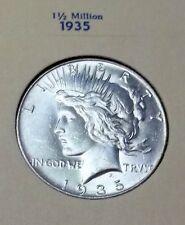 SALE! BLAZZING GEM 1935 PEACE DOLLAR MINT STATE FANTASTIC!