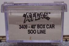 Atlas #3409 N Scale 40' box car Soo Line Road #47480