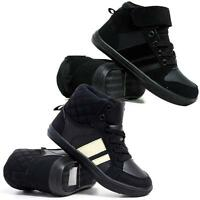Boys School Boots Designer Hi Tops Trainers Girls Ankle Basketball Shoes Size