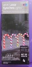 Lightshow LED Synchro Lights Multi Color 4 Pathway Candy Canes Christmas Holiday