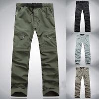 Pantalones Convertible Corto Urbano Mode Cómodo Practica Jogging Cordón Hombres