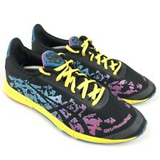 Women's Asics Gel Noosa Fast Black Colorful Athletic Shoes Size 8