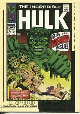 The Hulk Film And Comic Cards Famous Hulk Covers Chase Card FC12