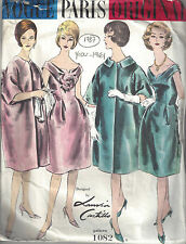 1961 Vintage VOGUE Sewing Pattern B38 DRESS & COAT (1787R) LANVIN