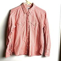 Cruel Girl XL Western Long Sleeve Pearl Snap Button up Shirt Red Plaid