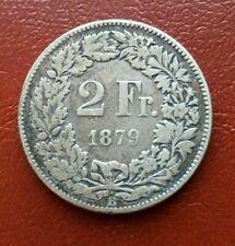 Suisse 2 Francs 1879 B Argent  [1726]