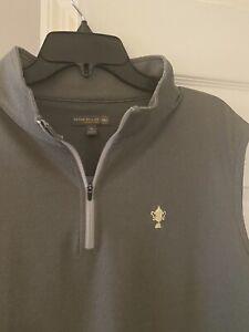 The Honors Course Peter Millar 1/4 Zip Vest XL gray